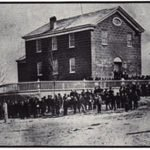 "The original CCHS Building built in 1920. Originally known as ""The Saint Sebastian Building."""