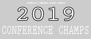 2019 Conference Champs with Catholic Central Girl's Volleyball in Burlington, Wisconsin