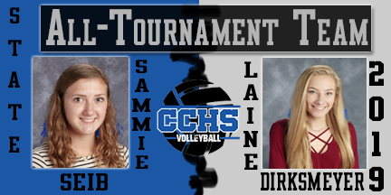Sammie Seib and Laine Dirksmeyer earn all-tournament honors 2019
